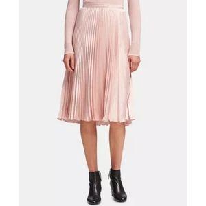 DKNY Pleated Pull-On Midi Skirt